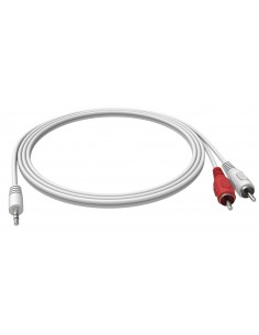 Vision 3.5mm - 2 RCA, 2m audio cable x RCA White Vision TC 2M3.5MM2PHO - 1