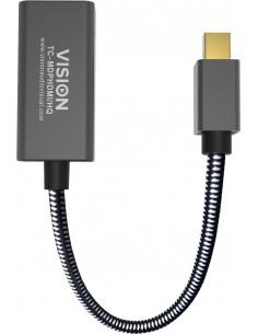 Vision TC-MDPHDMI/HQ video cable adapter Mini DisplayPort HDMI Type A (Standard) Black Vision TC-MDPHDMI/HQ - 1