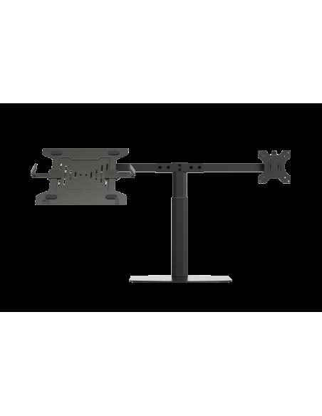 """Vision VFM-DSDG+S Kannettavan tietokoneen teline 41.9 cm (16.5"""") ja näytön varsiteline Musta Vision VFM-DSDG+S - 2"""