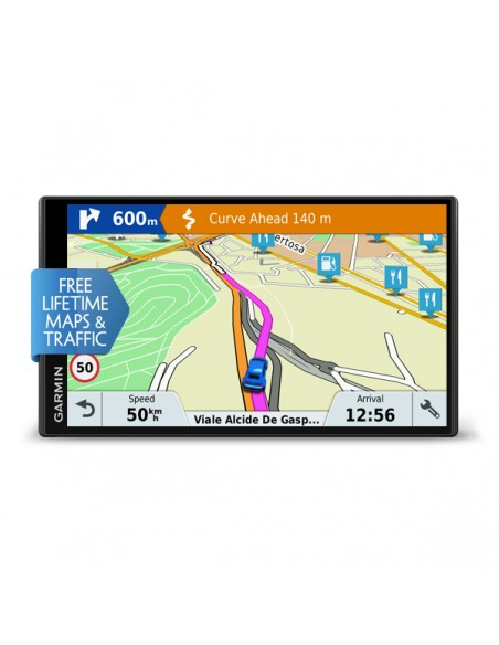 "Garmin DriveSmart 61 LMT-S navigator Fixed 17.6 cm (6.95"") TFT Touchscreen 243 g Black Garmin 010-01681-12 - 2"