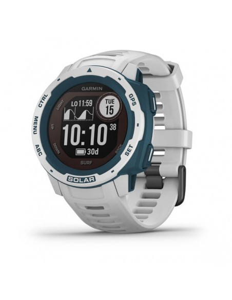 Garmin Instinct Solar – Surf Edition MIP Blue, White GPS (satellite) Garmin 010-02293-08 - 1