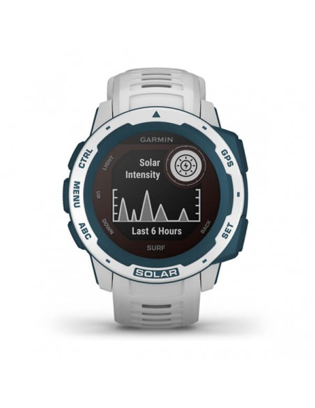 Garmin Instinct Solar – Surf Edition MIP Blue, White GPS (satellite) Garmin 010-02293-08 - 2
