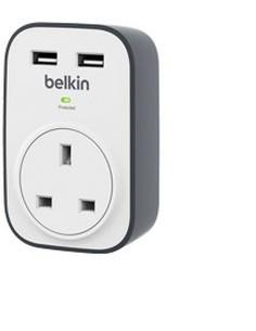 Belkin BSV103AF surge protector White 1 AC outlet(s) Belkin BSV103AF - 1