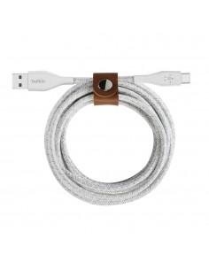 Belkin DuraTek Plus USB-kablar 1.2 m USB 2.0 A C Vit Belkin F2CU069BT04-WHT - 1