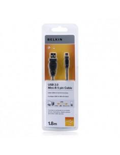 Belkin USB 2.0 A/Mini B, 1.8m USB-kaapeli 1.8 m A Mini-USB B Musta Belkin F3U155BT1.8M - 1