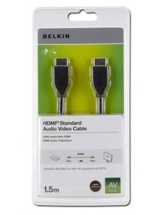 Belkin HDMI 1.4 1.5m HDMI-kaapeli 1.5 m HDMI-tyyppi A (vakio) Musta Belkin F3Y017R1.5MBLK - 1
