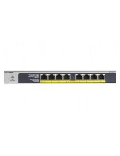 Netgear GS108LP Unmanaged Gigabit Ethernet (10/100/1000) Power over (PoE) 1U Black, Grey Netgear GS108LP-100EUS - 1