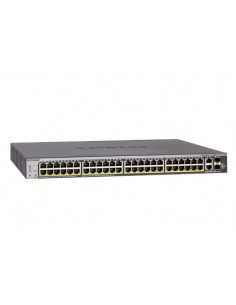 Netgear S3300-52X-PoE+ L2/L3 10G Ethernet (100/1000/10000) Strömförsörjning via (PoE) stöd Svart Netgear GS752TXP-100NES - 1