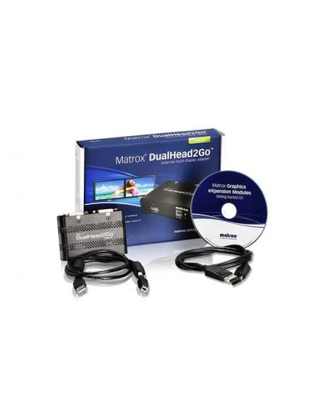 Matrox DualHead2Go Digital SE DisplayPort 2x DVI-D Matrox D2G-DP2D-IF - 4