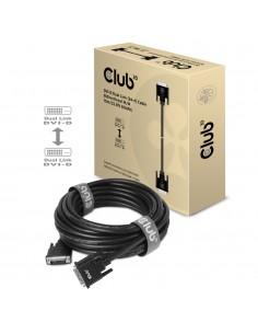 CLUB3D DVI-D DUAL LINK (24+1) CABLE BI DIRECTIONAL M/M 10m 32.8 ft 28AWG Musta Club 3d CAC-1220 - 1