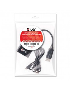 CLUB3D Multi Stream Transport Hub DisplayPort 1.2 Dual Monitor Club 3d CSV-6200 - 1