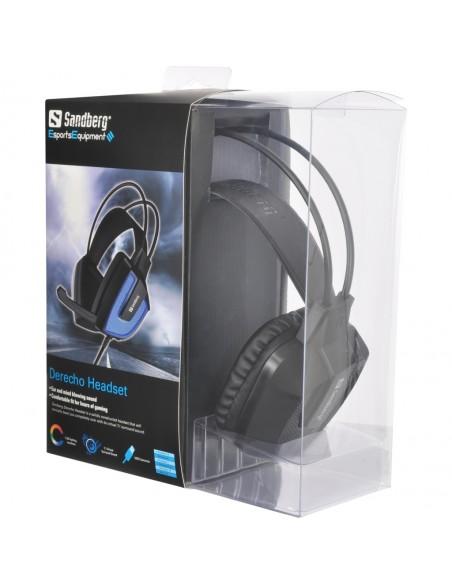 Sandberg Derecho Headset Kuulokkeet Pääpanta USB A-tyyppi Musta, Sininen Sandberg 125-77 - 2