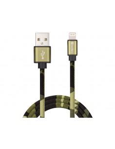 Sandberg Lightning Green Camouflage 1m USB-kablar USB A Kamouflage Sandberg 441-13 - 1