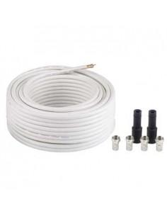 """Hama SAT Connection Kit """"Digital"""" koaksiaalikaapeli 20 m Valkoinen Hama 56661 - 1"""