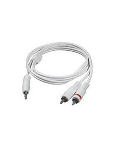C2G 2m 3.5mm Male to 2 RCA-Type audio Y-Cable - iPod cable x RCA White C2g 80126 - 1