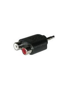 C2G Stereo/Dual RCA Adapter 2x FM 3.5mm Stereo M Black C2g 80471 - 1