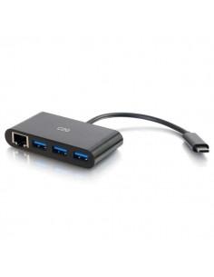 C2G USB C Ethernet and 3-Port Hub - Black 3 Ports C2g 82406 - 1