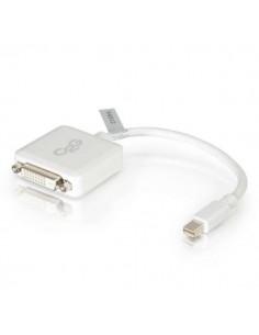 C2G 20cm Mini DisplayPort to DVI Adapter - Thunderbolt Single Link DVI-D Converter M/F White C2g 84312 - 1