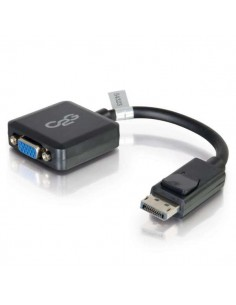 C2G 20cm DisplayPort to VGA Adapter Converter - DP Male Female Black C2g 84323 - 1