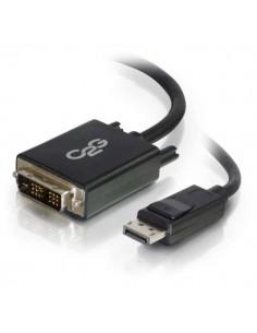 C2G 2m DisplayPort to Single Link DVI-D Adapter Cable M/M - DP DVI Black C2g 84329 - 1