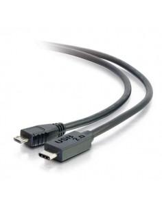 C2G USB 2.0, C - Micro B, 1m USB-kablar Micro-USB B Svart C2g 88850 - 1