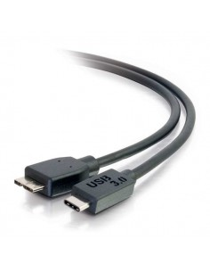 C2G USB 3.0, C - Micro B, 1m USB-kablar 3.2 Gen 1 (3.1 1) Micro-USB B Svart C2g 88862 - 1