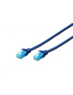 Digitus Cat5e, 1m nätverkskablar Blå U/UTP (UTP) Assmann DK-1512-010/B - 1