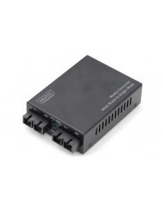 Digitus DN-82024 mediakonverterare för nätverk 100 Mbit/s 1310 nm Flerläge, Enkelläge Svart Assmann DN-82024 - 1