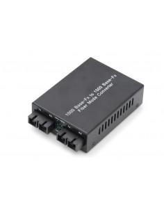 Digitus DN-82124 network media converter 1000 Mbit/s 1310 nm Multi-mode, Single-mode Black Assmann DN-82124 - 1