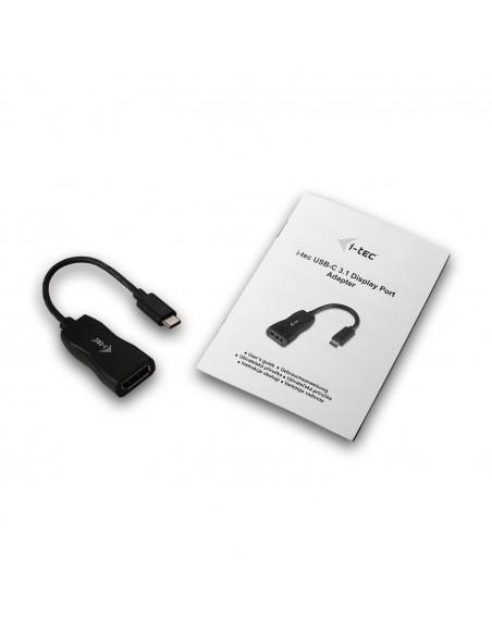 i-tec C31DP cable gender changer USB-C 3.1 DisplayPort Musta I-tec Accessories C31DP - 5
