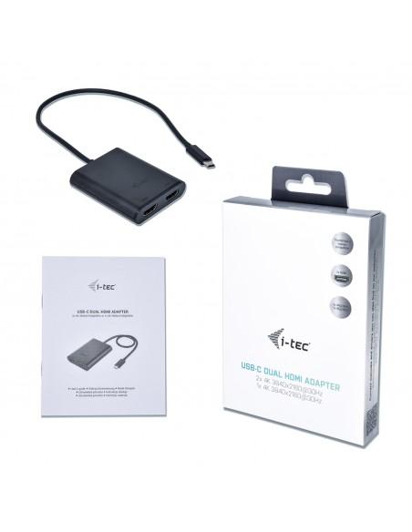 i-tec C31DUAL4KHDMI USB grafiikka-adapteri 3840 x 2160 pikseliä Musta I-tec Accessories C31DUAL4KHDMI - 6