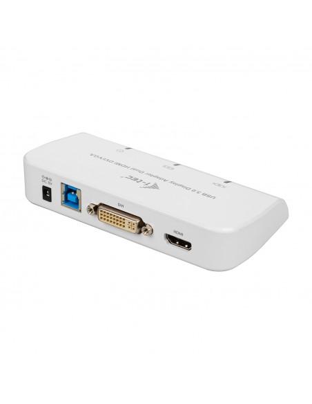 i-tec Advance U3DUALADA USB grafiikka-adapteri 2048 x 1152 pikseliä Valkoinen I-tec Accessories U3DUALADA - 1