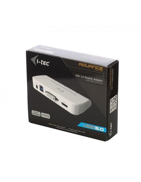 i-tec Advance U3DUALADA USB grafiikka-adapteri 2048 x 1152 pikseliä Valkoinen I-tec Accessories U3DUALADA - 10
