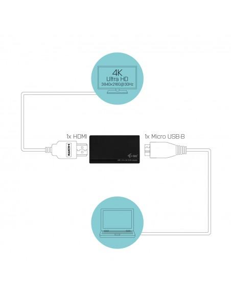 i-tec Advance U3HDMI4K USB grafiikka-adapteri 3840 x 2160 pikseliä Musta I-tec Accessories U3HDMI4K - 3