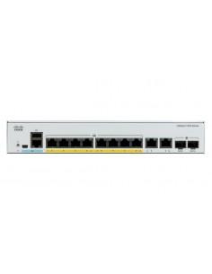 Cisco Catalyst C1000-8FP-2G-L verkkokytkin Hallittu L2 Gigabit Ethernet (10/100/1000) Power over -tuki Harmaa Cisco C1000-8FP-2G