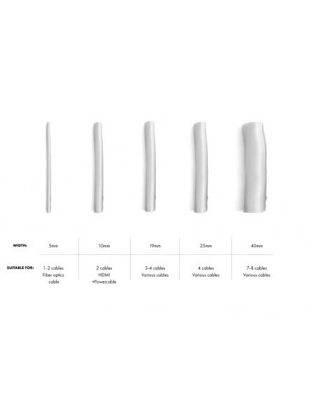 Multibrackets 4180 kaapelinjärjestäjä Kaapelisukka Hopea 1 kpl Multibrackets 7350022734180 - 5