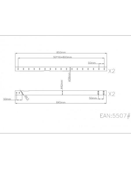 Multibrackets 5507 monitorikiinnikkeen lisävaruste Multibrackets 7350022735507 - 2