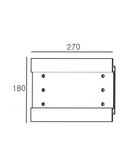Multibrackets 2661 monitorikiinnikkeen lisävaruste Multibrackets 7350073732661 - 3