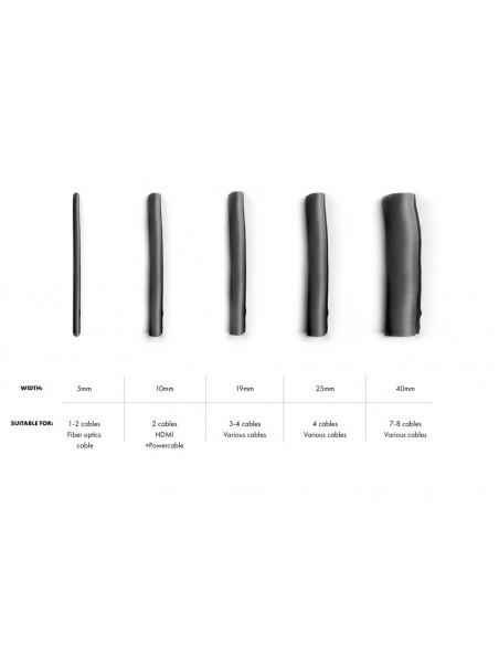 Multibrackets M Universal Cable Sock Self Wrapping 25mm Black 25m Multibrackets 7350073732791 - 5