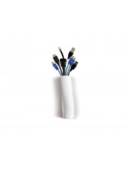 Multibrackets 2807 kabelsamlare Kabelstrumpa Vit 1 styck Multibrackets 7350073732807 - 1