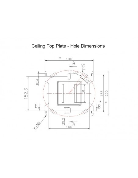 Multibrackets M Ceiling Mount Pro MBC1USD Multibrackets 7350073735785 - 10