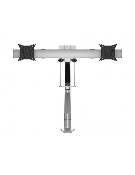 Multibrackets M VESA Gas Lift Arm Single Silver w. Duo Crossbar Multibrackets 7350073735938 - 2