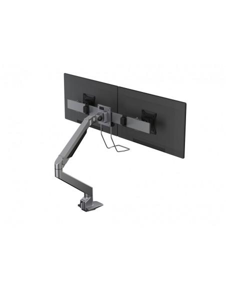 Multibrackets M VESA Gas Lift Arm Single Silver w. Duo Crossbar Multibrackets 7350073735938 - 8
