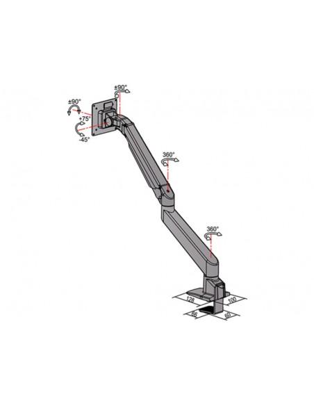 Multibrackets M VESA Gas Lift Arm Single White w. Duo Crossbar Multibrackets 7350073735945 - 13
