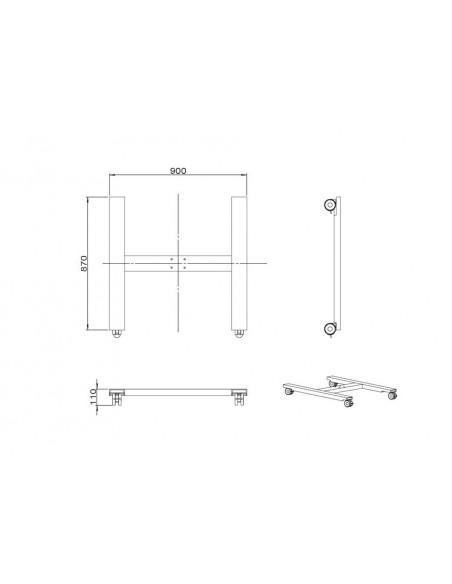 Multibrackets 6010 monitorikiinnikkeen lisävaruste Multibrackets 7350073736010 - 7