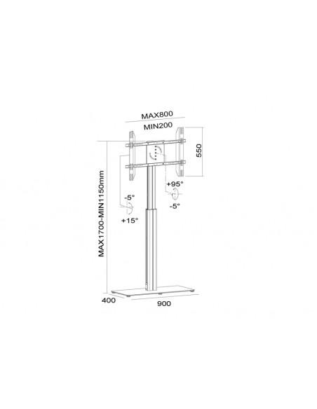 """Multibrackets 6041 kyltin näyttökiinnike 152.4 cm (60"""") Hopea Multibrackets 7350073736041 - 22"""