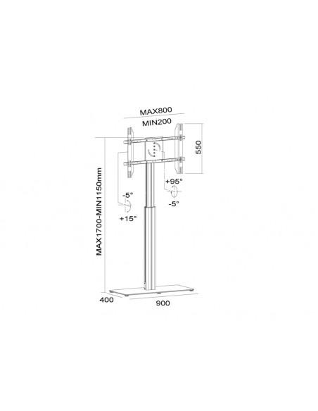 """Multibrackets 6058 fäste för skyltningsskärm 152.4 cm (60"""") Svart Multibrackets 7350073736058 - 22"""