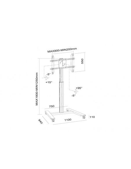 Multibrackets M Motorized Display Stand Wheelbase Black Multibrackets 7350073736102 - 21