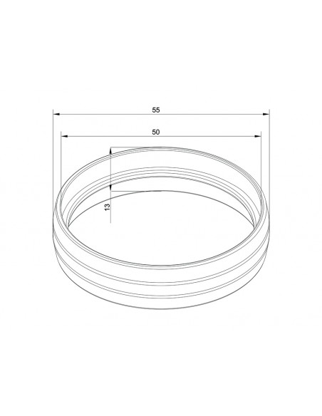 Multibrackets M Pro Series - External Pipe Cover Brass Multibrackets 7350073736225 - 2