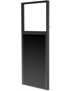 "Peerless DS-OM46ND-FLOOR kyltin näyttökiinnike 139.7 cm (55"") Musta Peerless DS-OM46ND-FLOOR - 1"